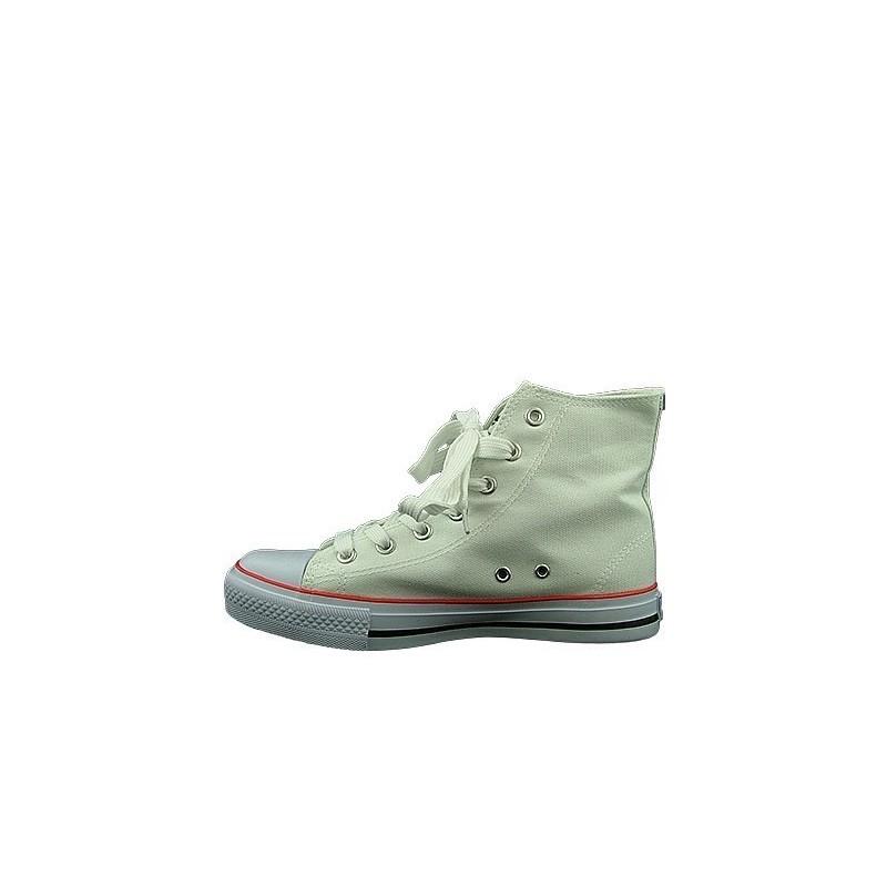 ae65d12a8d621 Białe trampki męskie sneakersy za kostkę AK 9120-4