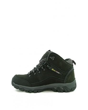 Buty trekkingowe czarne skórzane TF201303001