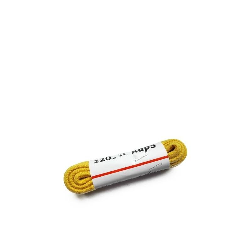 Żółte sznurówki do butów okrągłe grube 120 cm Kaps